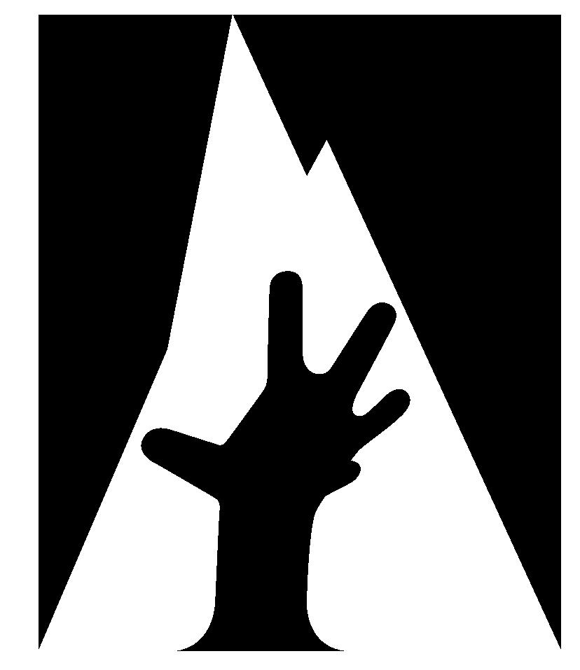 hand logo white